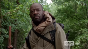 Lennie James' Morgan returns in a big way for the Season 5 finale of The Walking Dead. Photo credit: AMC