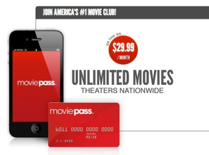 MoviePass is a monthly subscription service that allows users to go to the movies everyday for one low cost.