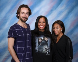 My photo op with Tom Mison and Nikki Beharie of Sleepy Hollow